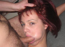 rough mouthfucking for this redhead milf