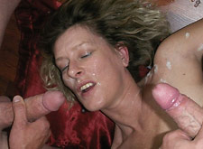 Many facials for this mature swinger