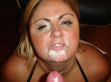 chubby mom facial cumshot