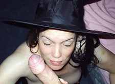 milf witch got a big facial