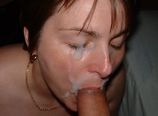 big facial for a brunette mom