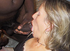 interracial fucking and facials for a swinger mom