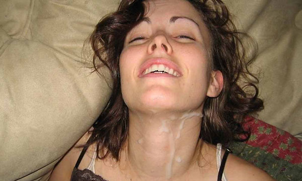 Mom loves cum all over her face think, that
